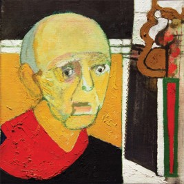 William UtermohlenSelf-Portrait with Saw 1997Oil on canvas, 35.5x45.5cm