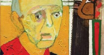 William UtermohlenSelf-Portrait with Saw 1997Oil on canvas, 35.5x45.5cm